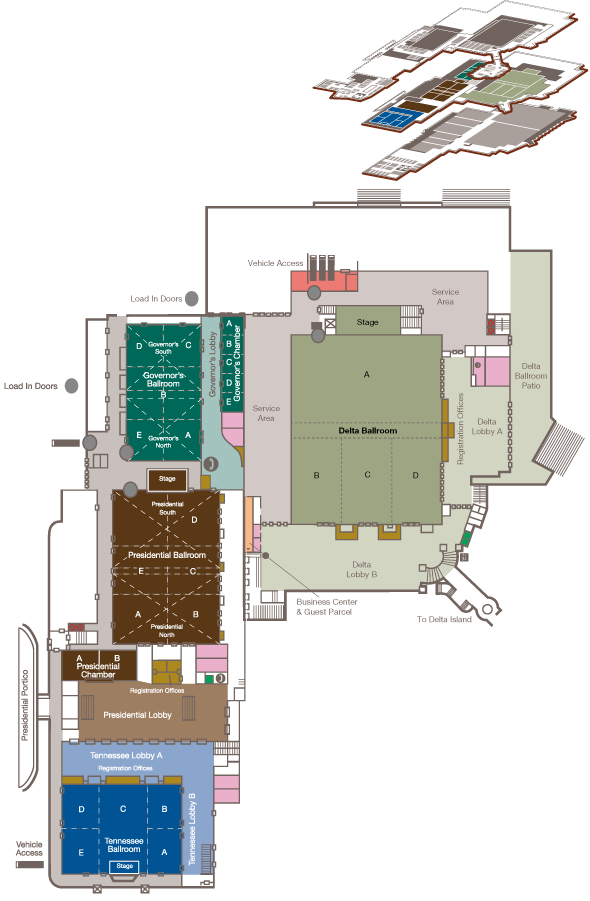 Map of the Ballrooms