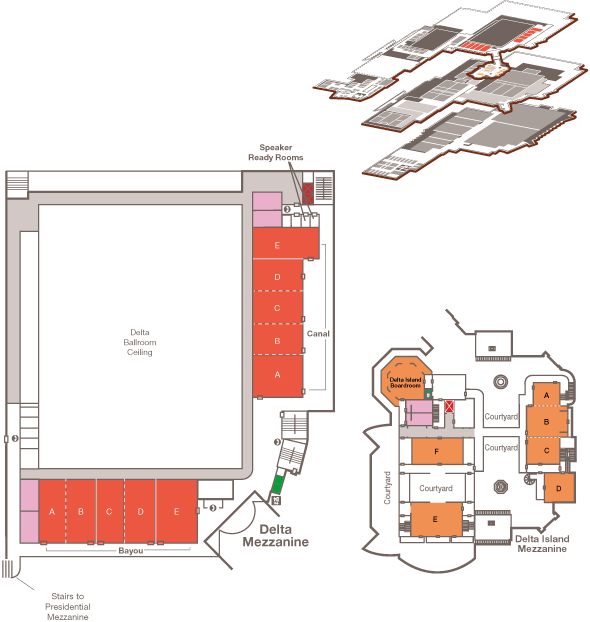 Map of the Delta Mezzanine