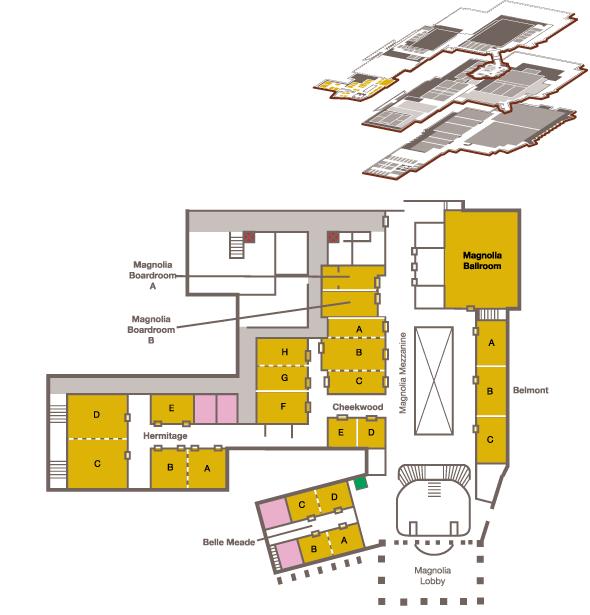 Map of the Magnolia Mezzanine
