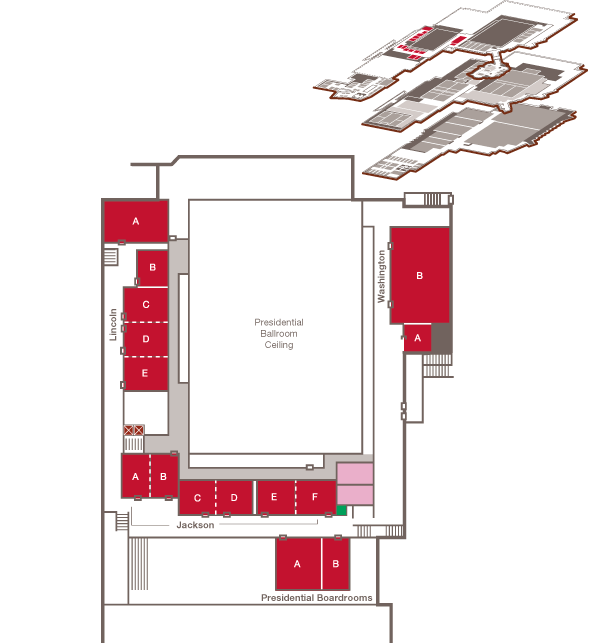 Map of the Presidential Mezzanine